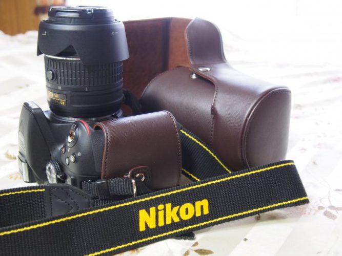 一眼レフデジタルカメラ用 合成革ケース/Nikon D5300