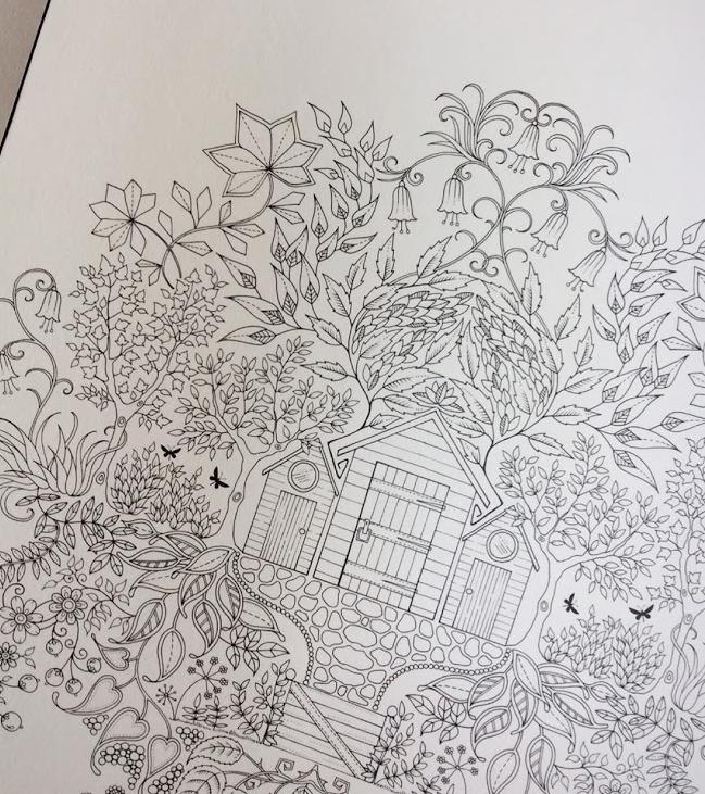 塗り絵ひみつの花園