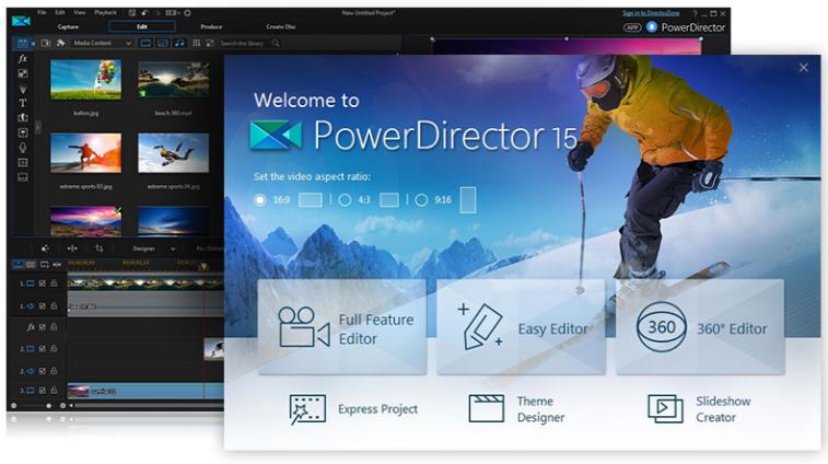 PowerDirector15/動画の回転させ方