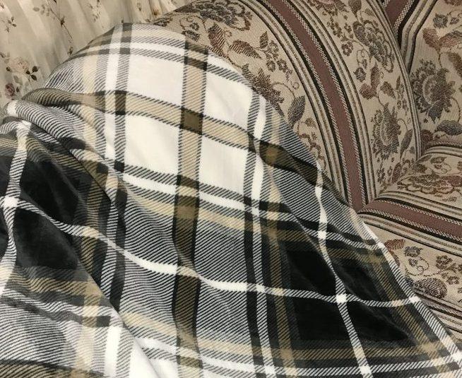 肌触り最高!大判のひざ掛け/Kawahomeフランネル毛布