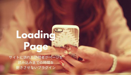 ページの読み込み時間をアニメーションで演出するプラグイン/Loading Page